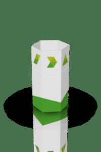 3D-skisse av sekskantet dumper