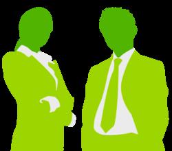 silhuett av to personer i dress