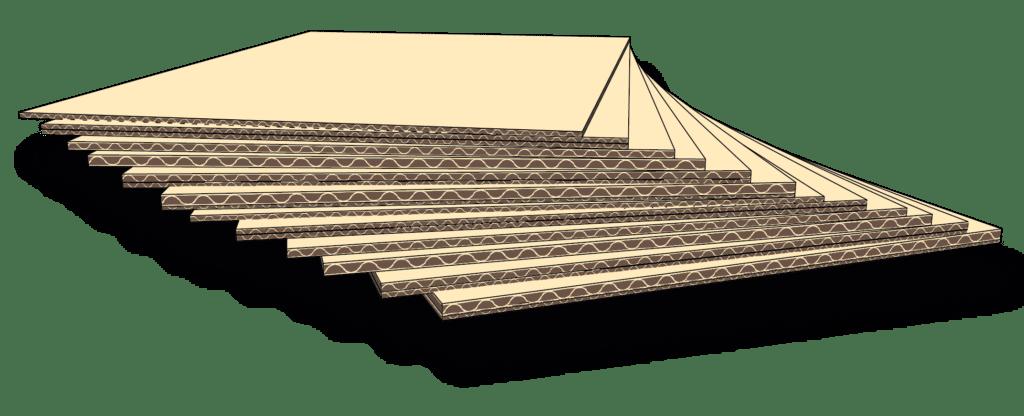 Stor illustrasjon av bølgepapp